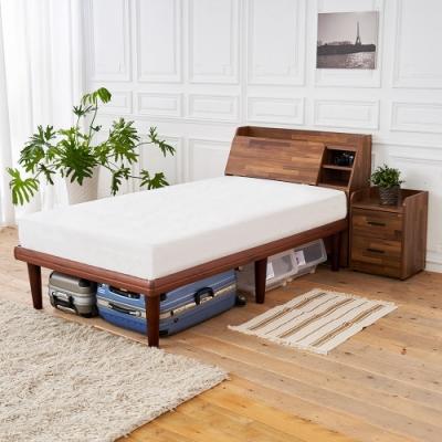 時尚屋 野崎3.5尺床箱型4件房間組 床箱+高腳床+床頭櫃+床墊 UZR8-13+1WG6-3571+UZR8-8