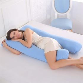 睡眠サポート妊娠中の女性の綿 100% 枕 U 形状マタニティ枕妊娠サイド枕木寝具