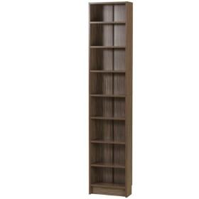 本棚 大容量 スリム ラック たて長 180 木製 かべ すきま収納 収納棚 ブラウン 幅37.5cm