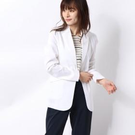 リネーム Rename リネン混テーラードジャケット (ホワイト)