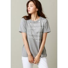 EVEX by KRIZIA 【ウォッシャブル】ロゴグリッターカットソー Tシャツ・カットソー,グレー