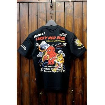 エフ商会 TEDCOMPANY TEDMAN(テッドマン) TDSS-465 コットンTシャツ ブラック