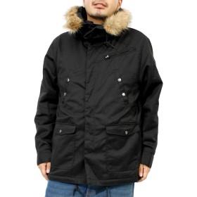 モッズコート メンズ 大きいサイズ 裏ボア 中綿 ファー付き N-3B 防寒 ミリタリーコート LL ブラック