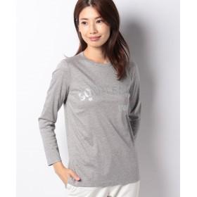 ラ ジョコンダ ロングスリーブ ロゴTシャツ レディース グレー 38 【LA JOCONDE】