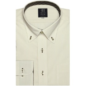 ブリックハウス ワイシャツ 長袖 形態安定 ボタンダウン 標準体 メンズ BM019503AC12B1A-64 オレンジ・イエロー M-84