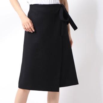 リネーム Rename ウエストリボンラップスカート (ブラック)