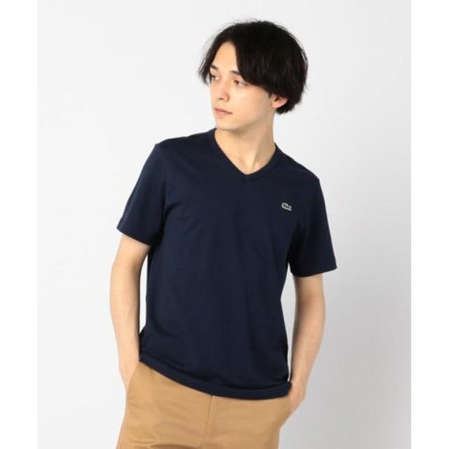 (FREDY & GLOSTER/フレディアンドグロスター)【LACOSTE/ラコステ】VネックTシャツ #TH632EM/メンズ ネイビー