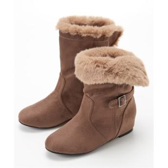 ベルト付2WAYインヒールブーツ(低反発中敷)(ワイズ4E) ブーツ・ブーティ, Boots