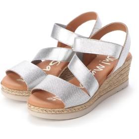 オー マイ サンダルズ Oh my Sandals クッションインソールゴムバンドサンダル (シルバー)