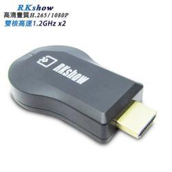 RKshow高速雙核心1080P無線影音鏡像器(送3大好禮)