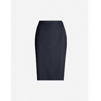 リース REISS レディース ひざ丈スカート ペンシルスカート スカート Hartley high-waist wool-blend pencil skirt NAVY