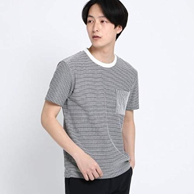 (ザ ショップ ティーケー) THE SHOP TK シアサッカーTシャツ 61636606 04(LL) ブラック(319)