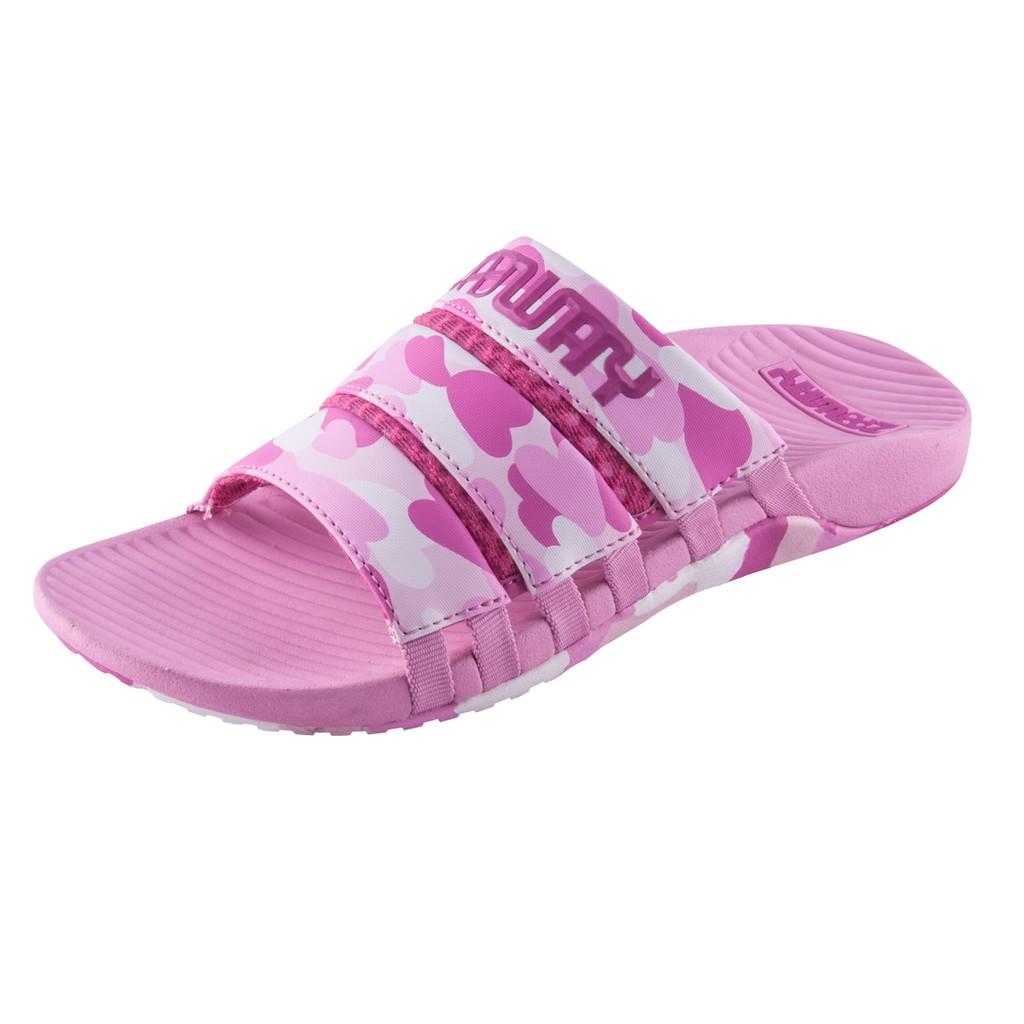 ZABWAY [穿斷換給你] 粉紅色 女鞋 迷彩防滑拖鞋 耐穿拖鞋