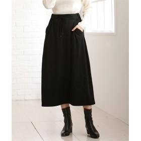 あたたか裏起毛ロングスカート (ひざ丈スカート)Skirts, 裙子