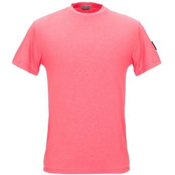 《セール開催中》DANIELE ALESSANDRINI HOMME メンズ T シャツ フューシャ S ポリエステル 60% / コットン 30% / ポリウレタン 10%