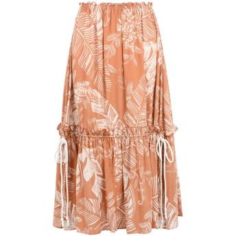 《セール開催中》SEE BY CHLO レディース 7分丈スカート あんず色 38 コットン 56% / レーヨン 44%