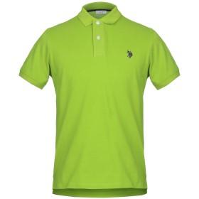 《セール開催中》U.S.POLO ASSN. メンズ ポロシャツ ビタミングリーン S コットン 100%