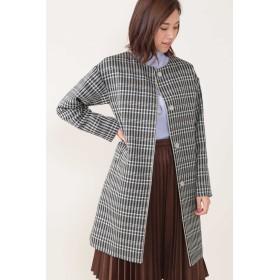 NATURAL BEAUTY ◆インナーダウン付きノーカラーコート その他 コート,ブルー