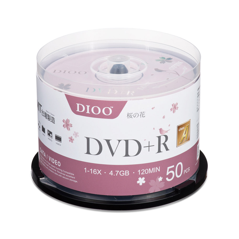 DIOO 櫻花版 16X DVD+R 50片桶