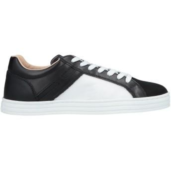 《セール開催中》HOGAN REBEL メンズ スニーカー&テニスシューズ(ローカット) ブラック 7.5 革 / 紡績繊維