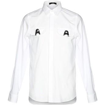 《セール開催中》VERSUS VERSACE メンズ シャツ ホワイト 46 95% コットン 5% ポリウレタン