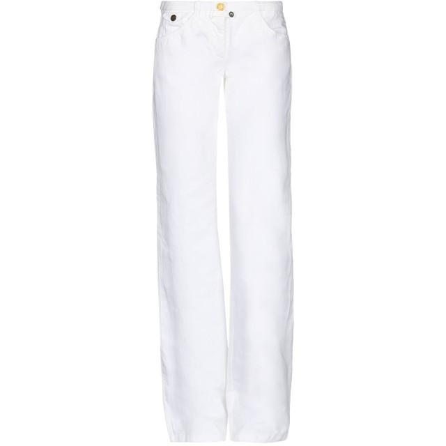《セール開催中》WEBER レディース パンツ ホワイト 38 コットン 56% / 麻 44%