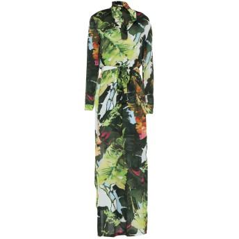 《セール開催中》BLUGIRL BLUMARINE レディース ロングワンピース&ドレス グリーン 40 レーヨン 100%