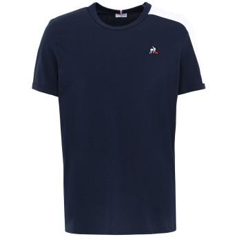 《セール開催中》LE COQ SPORTIF メンズ T シャツ ダークブルー S コットン 100% ESS Tee SS N°8