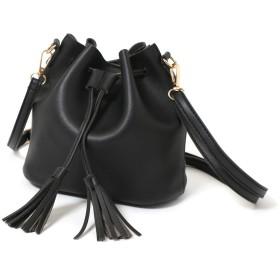 JOKnet バッグ レディース 鞄 かばん ミニバッグ 巾着バッグ バケツ型 軽量 2way ショルダー 斜め掛け 肩掛け ハンドバッグ ブラック F