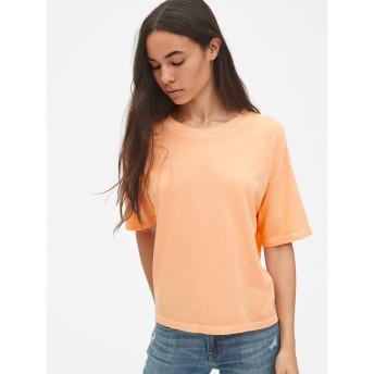 Gap ボクシー半袖クルーネックTシャツ