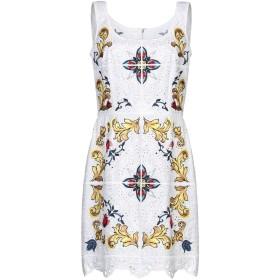 《セール開催中》DOLCE & GABBANA レディース ミニワンピース&ドレス ホワイト 36 コットン 90% / ポリエステル 10%