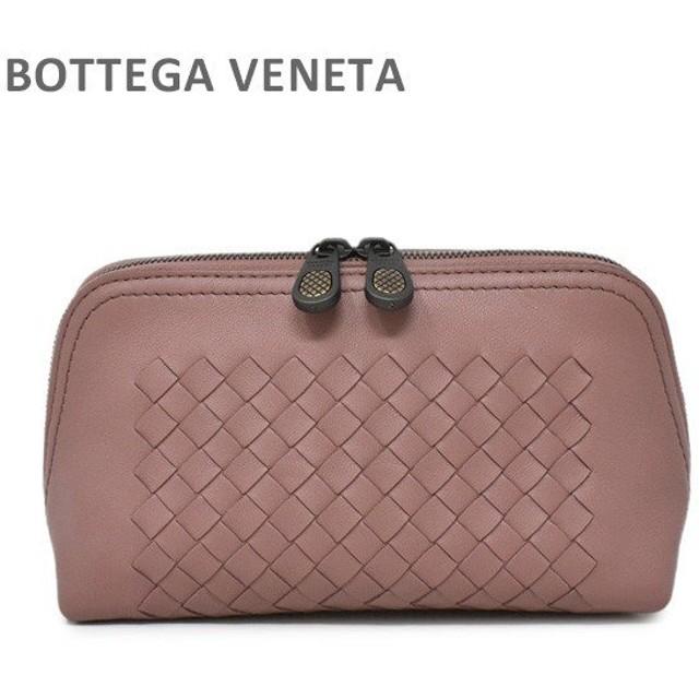 ボッテガヴェネタ ポーチ 547252 VO0B9 6679 ピンクブラウン系 BOTTEGA VENETA コスメティックケース レディース