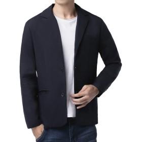 TOPSKY ジャケット メンズ 綿麻 秋テーラード ブ レザー 細身 トップス ビジネス ジャケット メンズ 冬