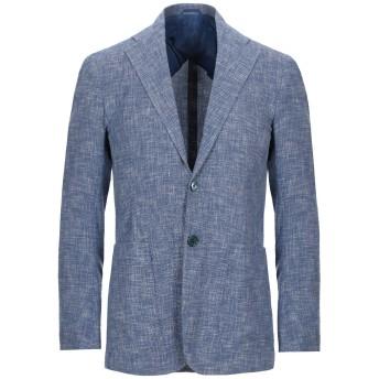 《セール開催中》SARTORIO メンズ テーラードジャケット ブルー 48 ウール 47% / コットン 39% / ナイロン 14%
