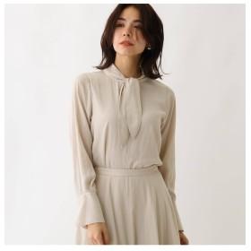 【アクアガール/aquagirl】 スプリットフローレットボウタイシャツ