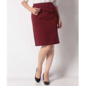 (salire/サリア)メタルパーツ付ペプラムスカート/レディース ワイン