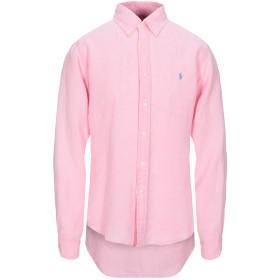 《期間限定セール開催中!》POLO RALPH LAUREN メンズ シャツ ピンク XL 麻 100% Slim Fit Linen Shirt