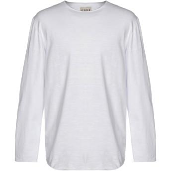 《セール開催中》CORELATE メンズ T シャツ ホワイト M コットン 100%