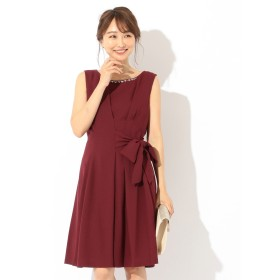 【オンワード】 any SiS(エニィスィス) 【洗える】ジョーゼットリボン ドレス ワイン 2 レディース 【送料無料】
