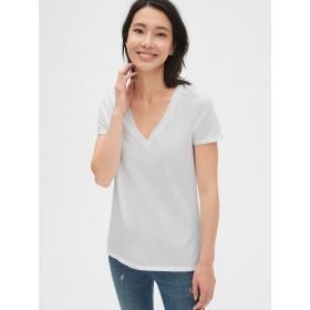 Gap 半袖VネックTシャツ(ヴィンテージウォッシュ)