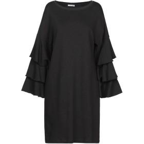 《セール開催中》HOPE COLLECTION レディース ミニワンピース&ドレス ブラック L コットン 100%