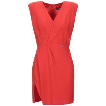 《セール開催中》ELISABETTA FRANCHI レディース ミニワンピース&ドレス レッド 40 レーヨン 88% / バージンウール 12%