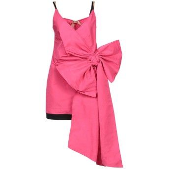 《セール開催中》N°21 レディース ミニワンピース&ドレス フューシャ 42 ポリエステル 100% / アセテート / シルク