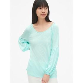 Gap ソフトスラブ バルーンスリーブTシャツ