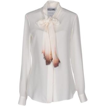 《セール開催中》MOSCHINO レディース シャツ ホワイト 38 100% シルク