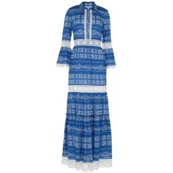 《セール開催中》BLUMARINE レディース ロングワンピース&ドレス ブルー 40 コットン 100%