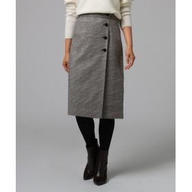UNTITLED(アンタイトル) [L]グレンチェック フロントボタンスカート