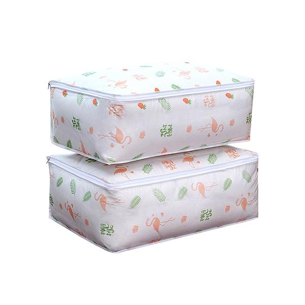 清新印花棉被/衣物收納防塵袋(1入)【小三美日】款式隨機出貨 D011595