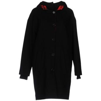 《セール開催中》MOSCHINO レディース コート ブラック 40 バージンウール 78% / ナイロン 20% / 指定外繊維 2%