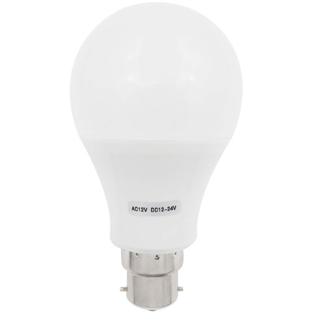 GRV B22ベースLED電球非調光可能15-5730 SMD 7W熱可塑性ライト60W相当DC12-24VまたはAC12V 1個のクールホワイトパック